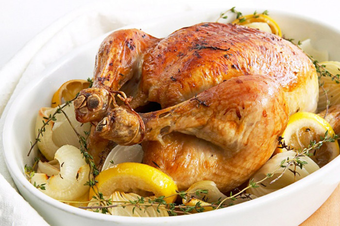 Andres Honey Lemon and Thyme roast Chicken